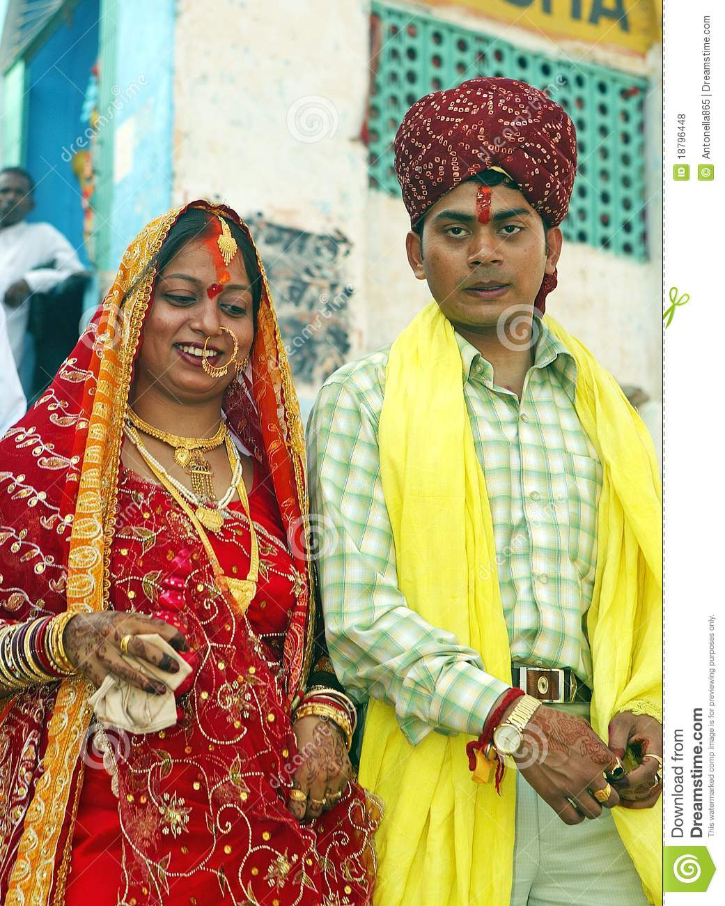 Hindu bride and husband editorial stock photo Image of marriage  18796448