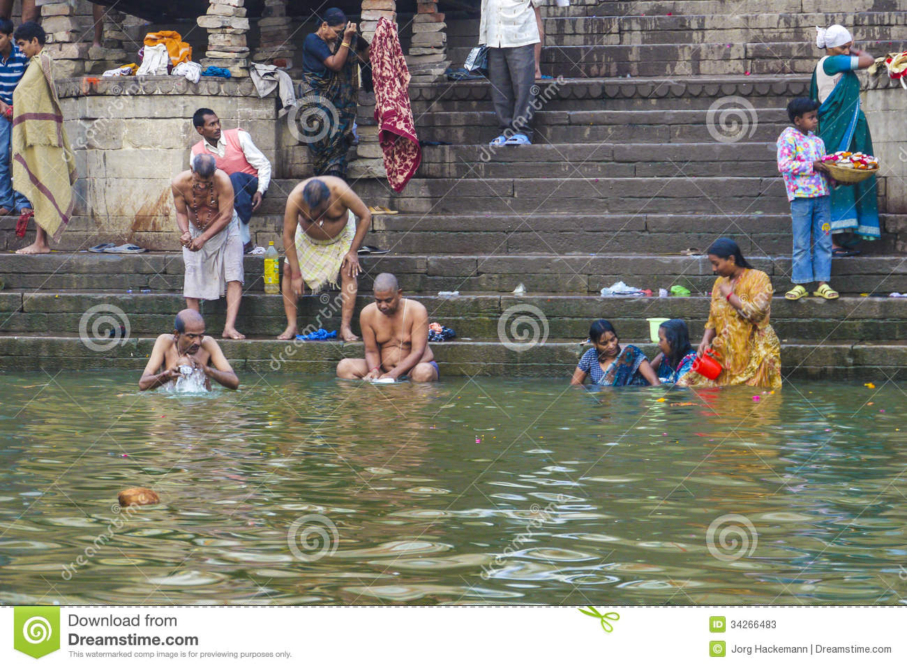 Hindu People Wash Themselves Editorial Stock Photo  Image 34266483