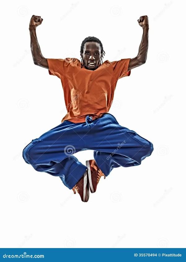 972b51601 Hip Hop Acrobatic Break Dancer Breakdancing Young Man Jumping Si Stock -  35570494