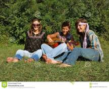 Hippie Band Stock Of Grass Excited Enjoy