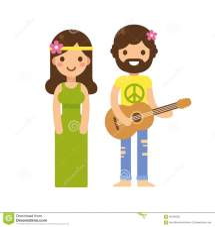 Hippie Couple Stock Vector. Of Love Musician Beard