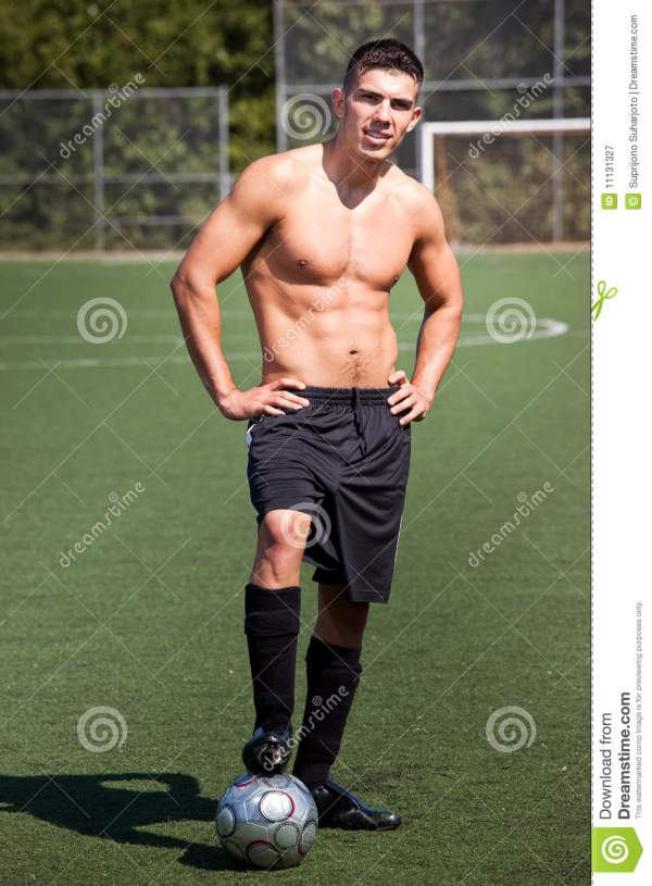 Hispanic Soccer Or Football Player Royalty Free Stock