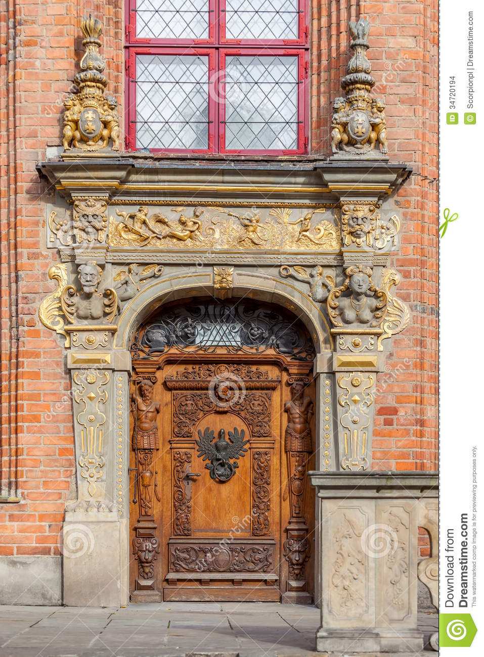 The Historic Entrance To The Building Stock Photo  Image