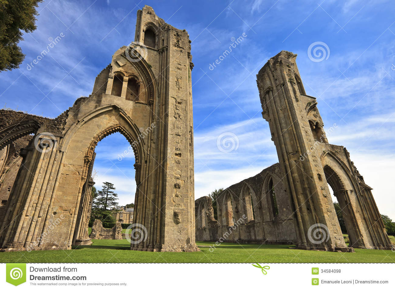 Hd Vector Wallpapers Free Download The Historic Ruins Of Glastonbury Abbey In Somerset