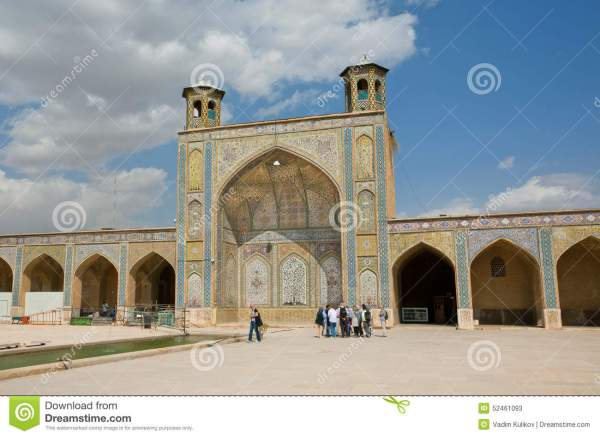 Historical Mosque With Walking People Editorial