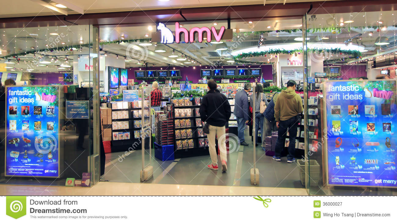 Hmv in Hong Kong editorial photography. Image of game - 36000027