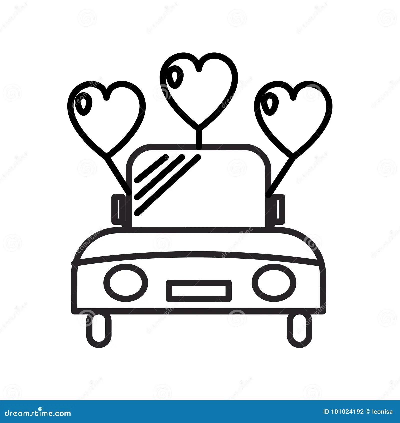 Malvorlage Hochzeitsauto