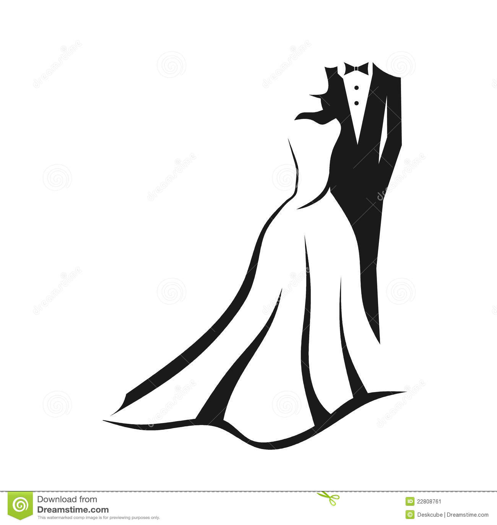 Hochzeitspaare Stockbild  Bild 22808761