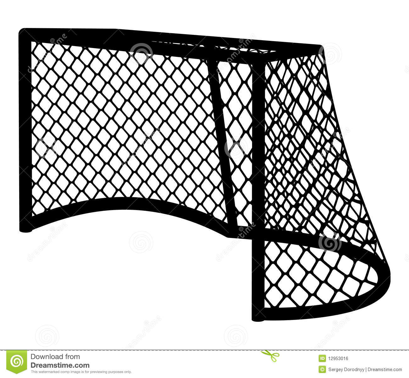 Hockey Goal Silhouette Royalty Free Stock Image