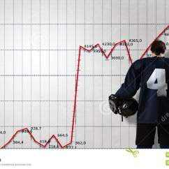 Hockey Player Diagram 240 Volt Plug Wiring Australia And Dynamics Graph Mixed Media Stock Game Infographs At Background
