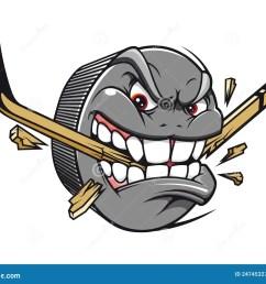 hockey puck mascot [ 1300 x 1069 Pixel ]