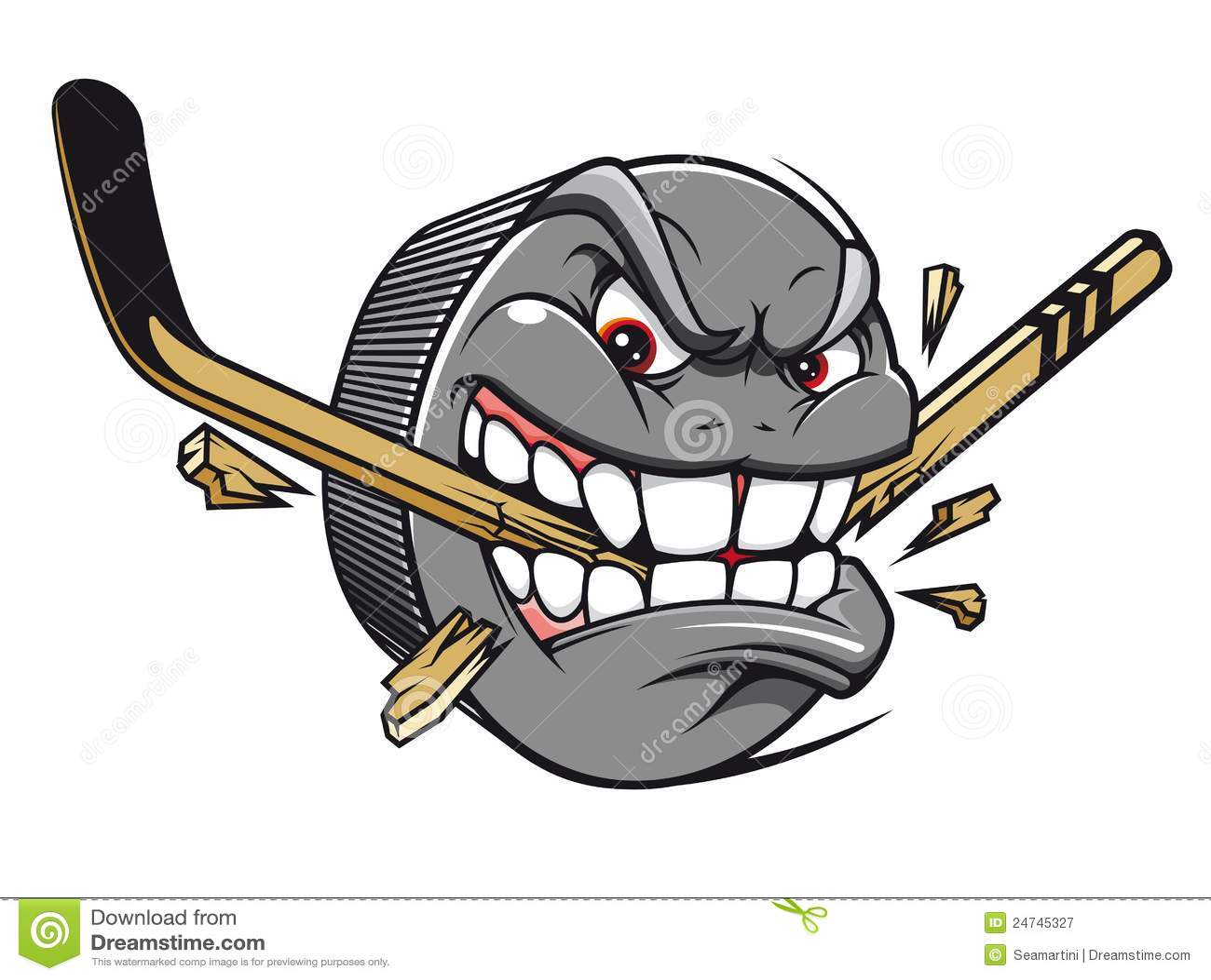 hight resolution of hockey puck mascot
