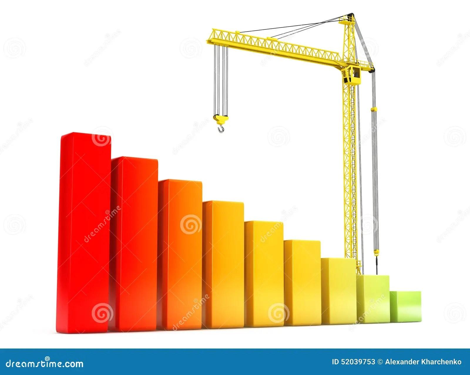 hight resolution of hoisting crane with progress bars