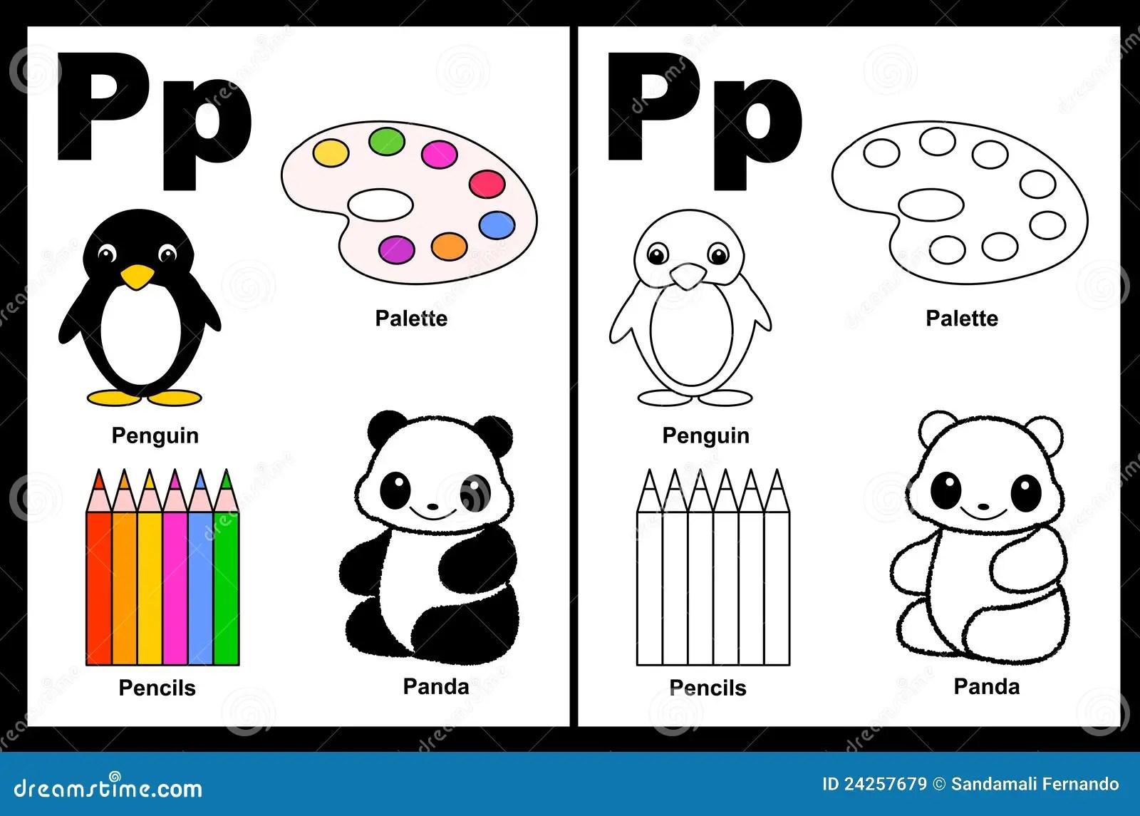 Hoja De Trabajo De La Letra P Ilustracion Del Vector