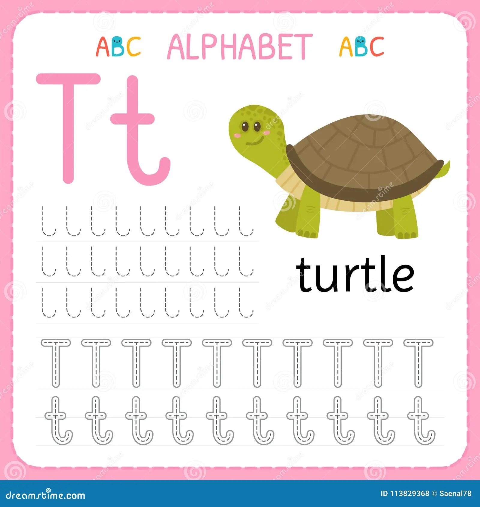 Hoja De Trabajo De Trazado Del Alfabeto Para El Preescolar