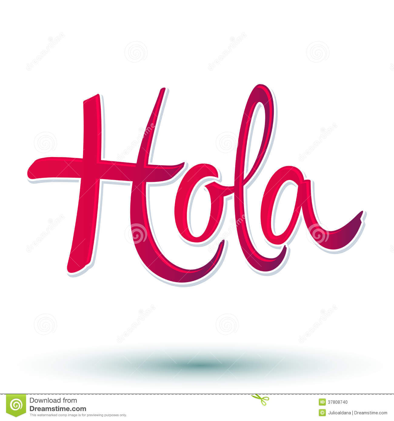 hight resolution of hola hello spanish text