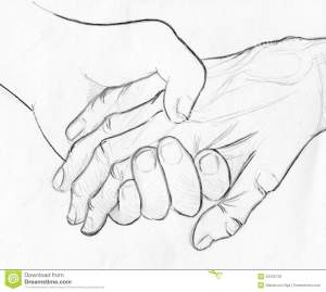hands holding drawing hand sketch pencil help young drawn compassion elderly symbol sketches drawings illustration together getdrawings dreamstime paintingvalley rosary