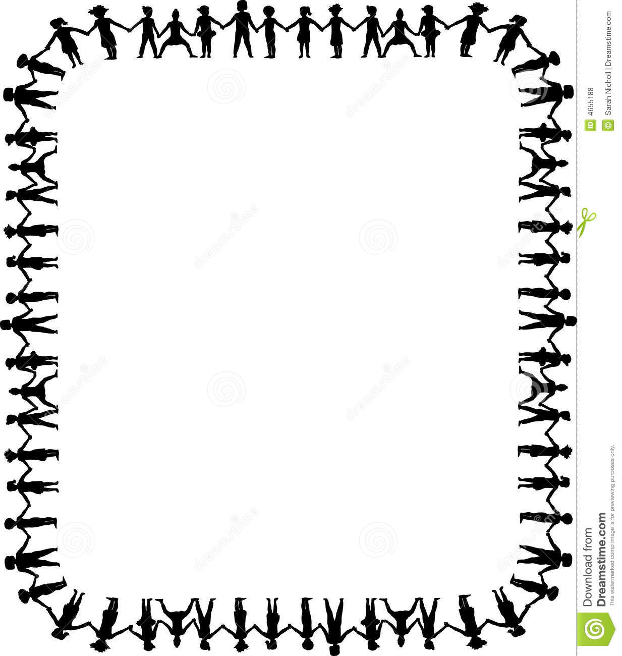 Holding Hands Border 1 Royalty Free Stock Photos