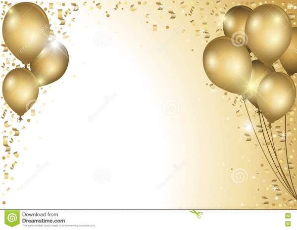 holiday background with gold balloons