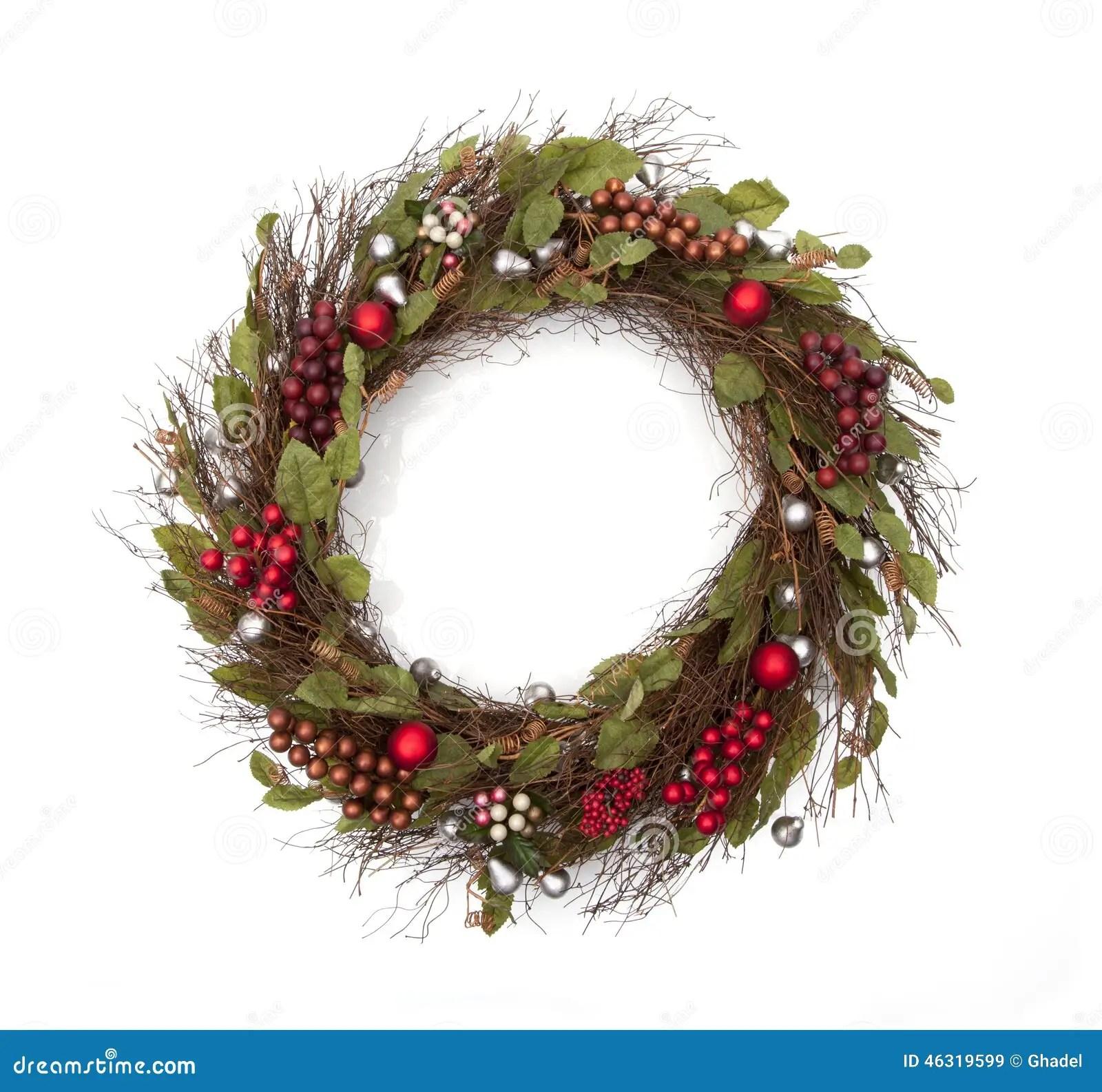 Holiday Christmas Wreath Stock Photo Image 46319599