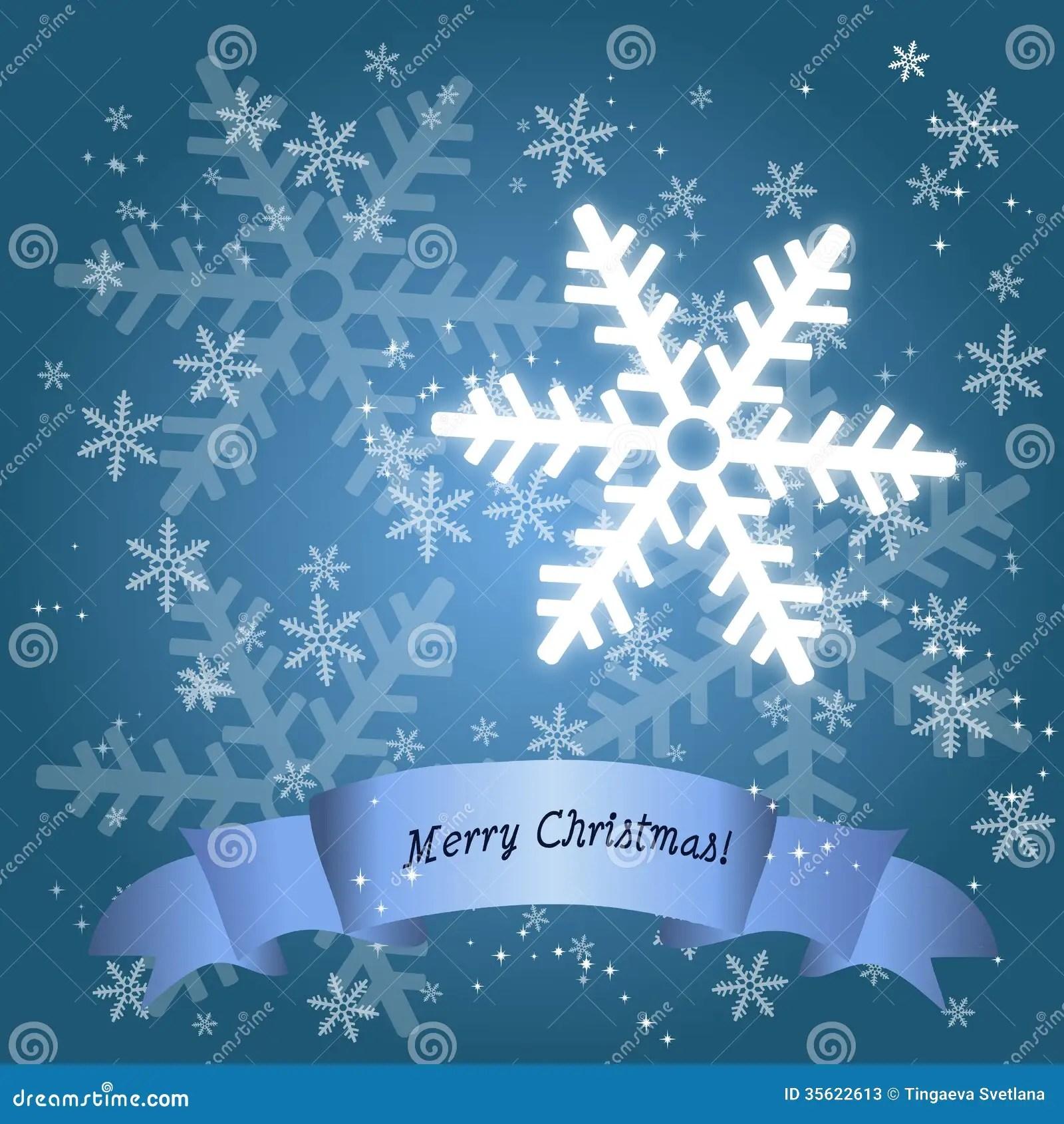 Holiday Season Snow Flake Card Stock Vector Image 35622613