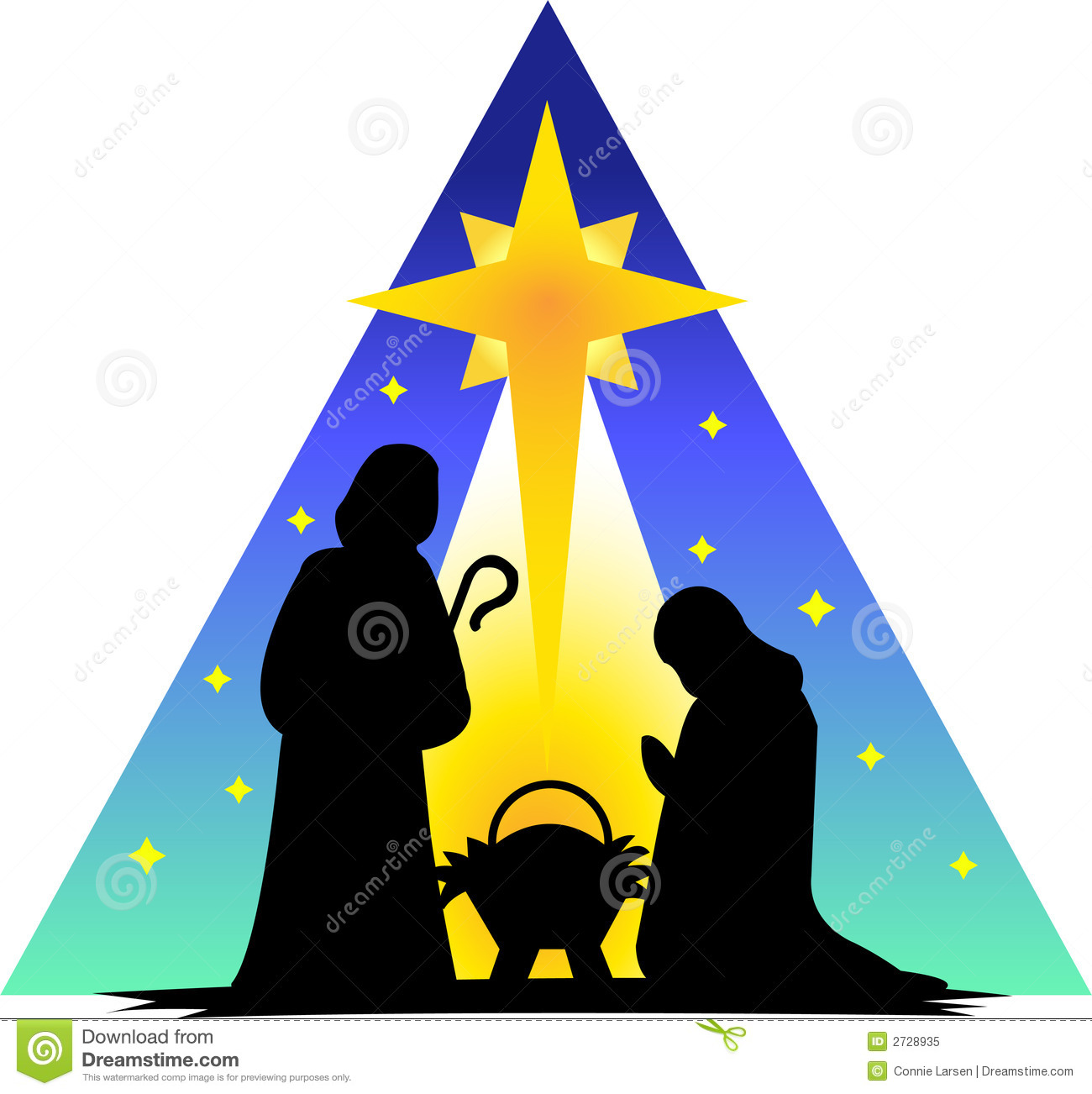Holy Family Silhouetteeps Stock Vector Illustration Of