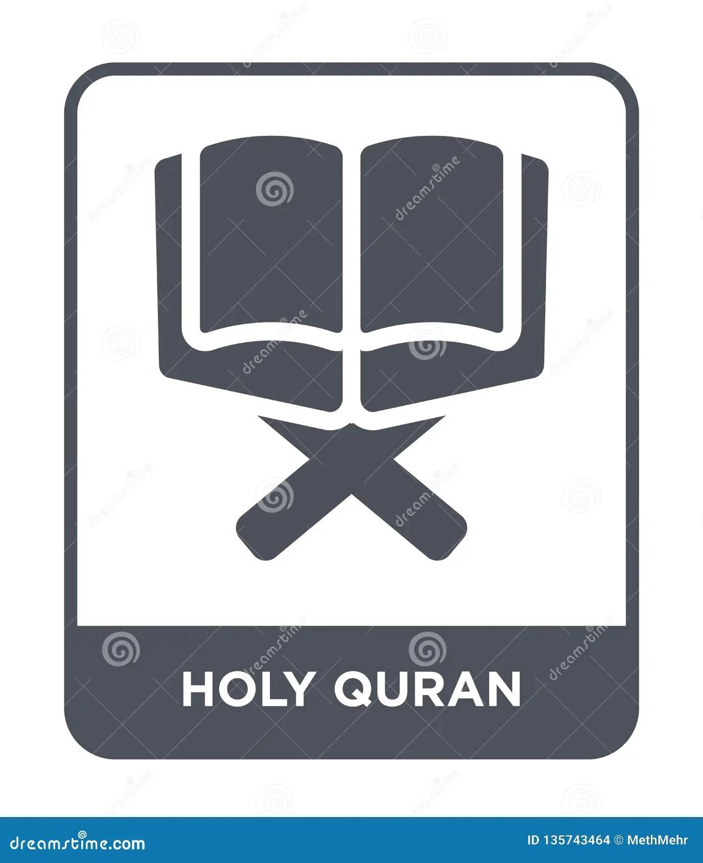 Logo Quran Vector : quran, vector, Quran, Trendy, Design, Style., Isolated, White, Background., Vector, Simple, Modern, Stock, Illustration, Design,, Moon:, 135743464