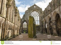 Holyrood Abbey In Edinburgh Scotland Stock