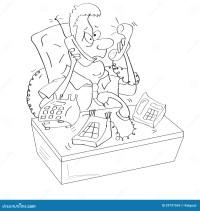 Dibujos Animados De Hombre O De Hombre De Negocios Enfermo
