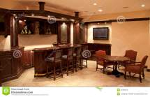 Basement Bar and Lounge Area
