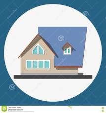 Home Building Flat Icon Stock Vector. Illustration Of