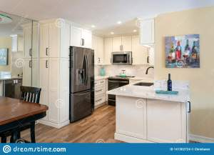 Home Design Remodel Small Kitchen With White Cabinets