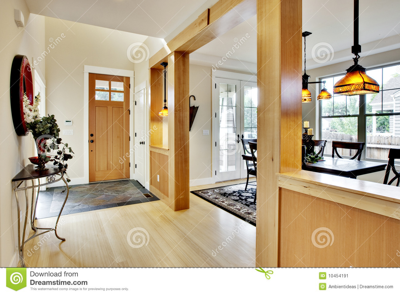 Home Entrance Hallway Stock Image Image 10454191