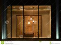 Home Furnishing Shop Display Window With Led Chandelier ...