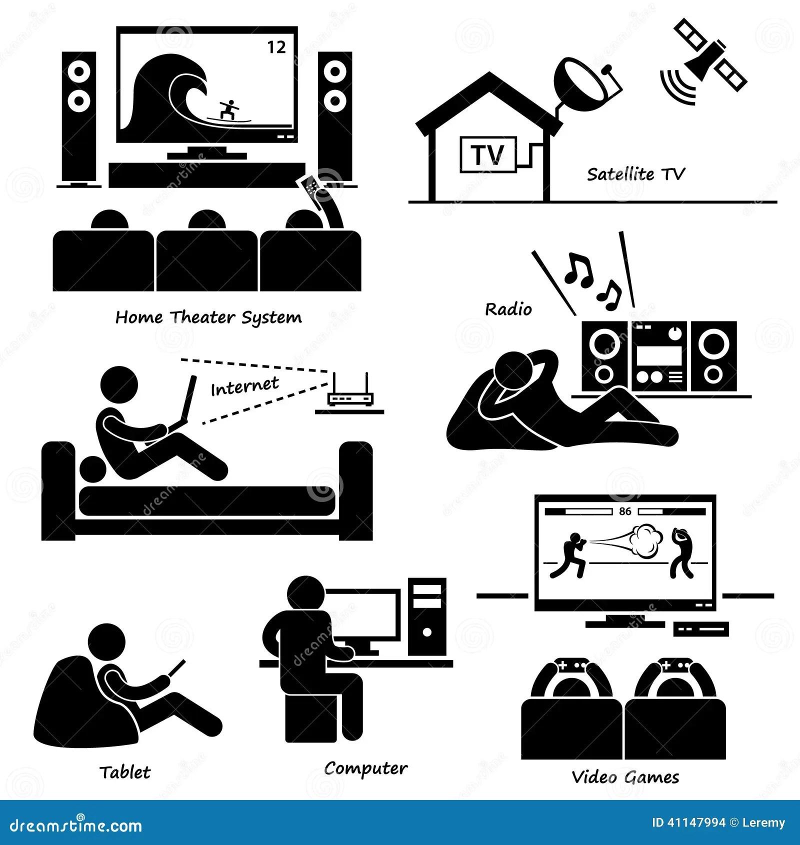 Home House Entertainment Electronic Appliances Cliparts