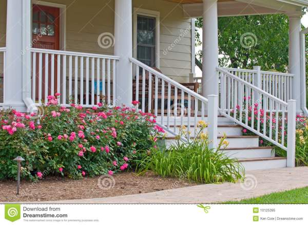 home landscaping porch stock