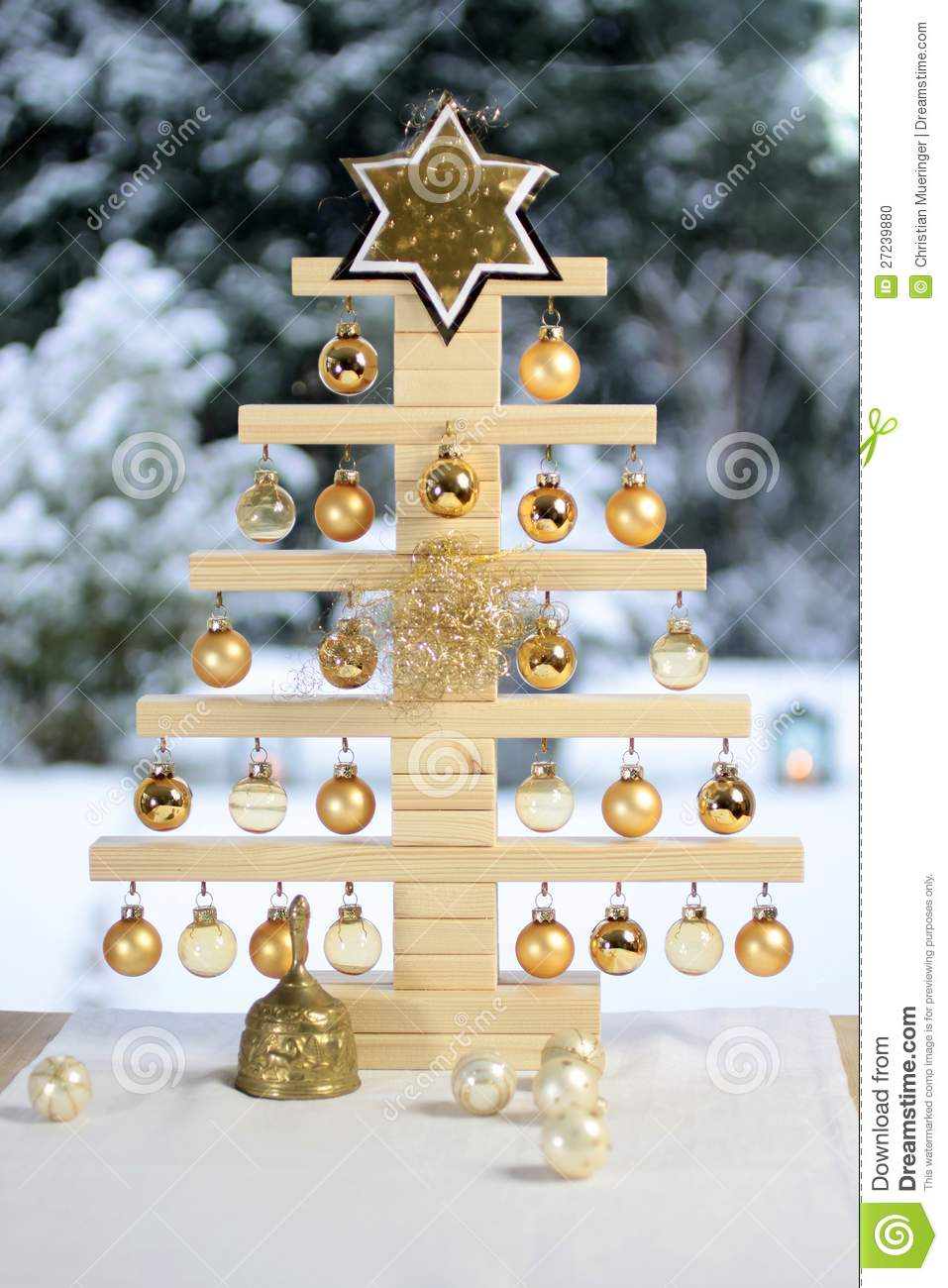 Home Made Wooden Christmas Tree Stock Photo Image 27239880