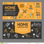 Home Repair Flyer Banner Posters Card Set Vector Stock Vector Illustration Of House Element 102394478