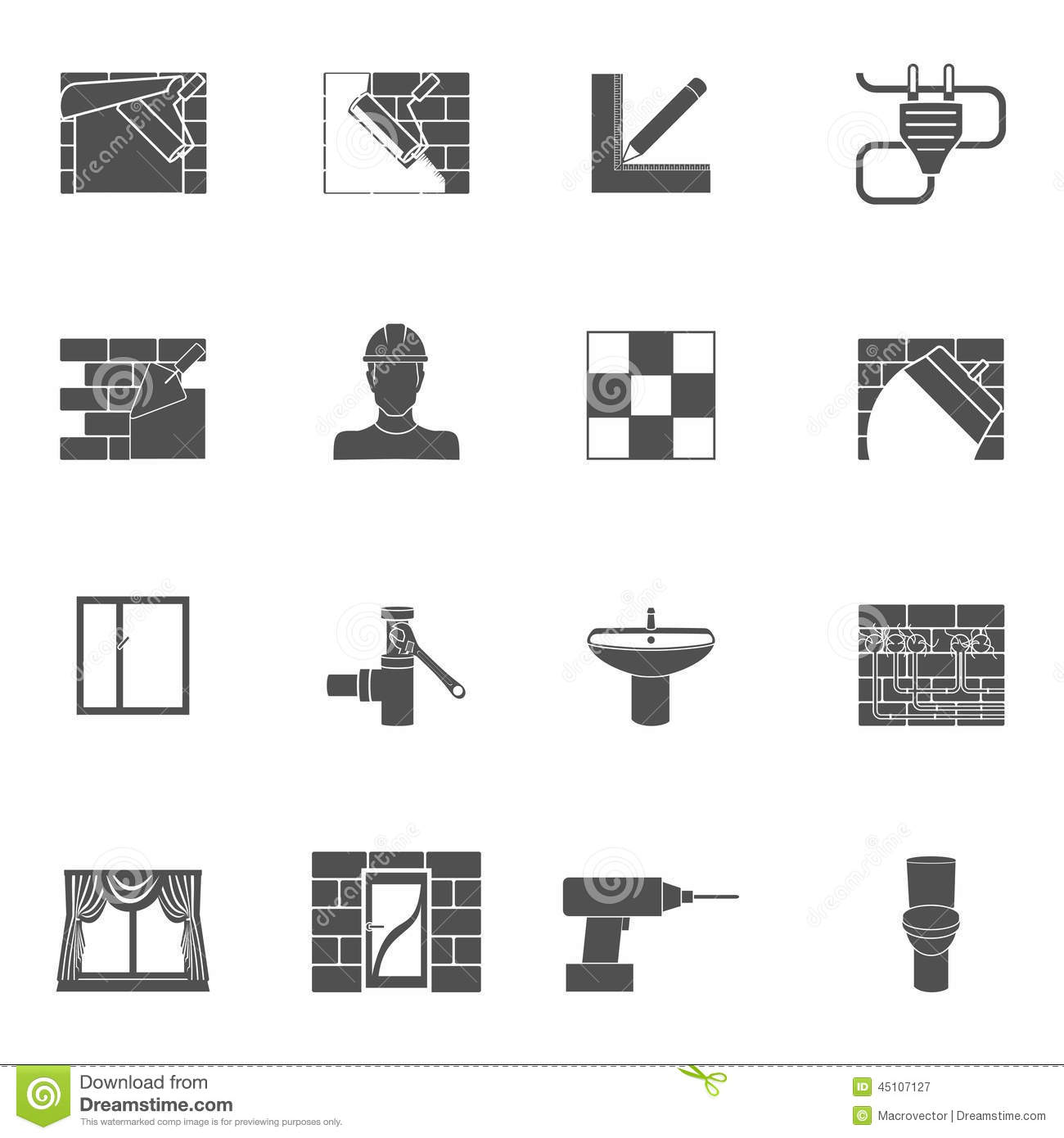 Home Repair Icons Vector Illustration