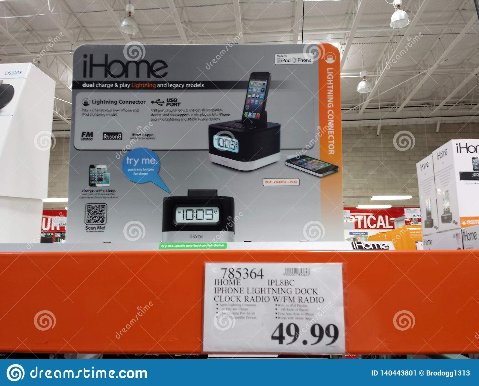 https www dreamstime com home sale inside costco store honolulu october ihome bedside speakers to wireless charging alarm clocks image140443801