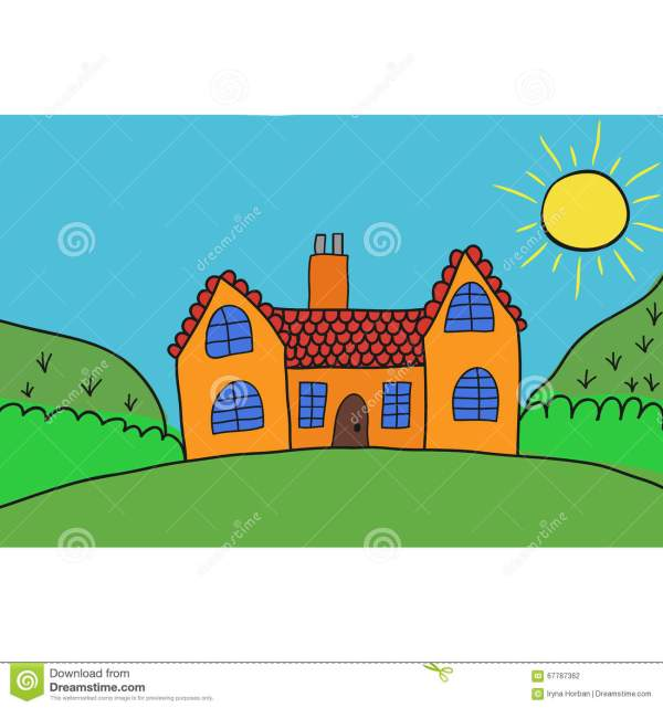Home Sweet Vector Children' Illustration Stock