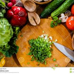 Kitchen Food Preparation Table How Much Does A Restaurant Cost Homemade Stock Photo Image 53095186