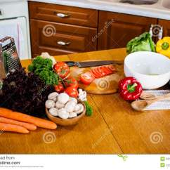 Kitchen Food Preparation Table Appliances For Restaurant Homemade Stock Photo Image Of Dinner
