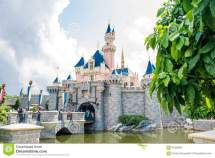 Disneyland Castle Hong Kong Editorial