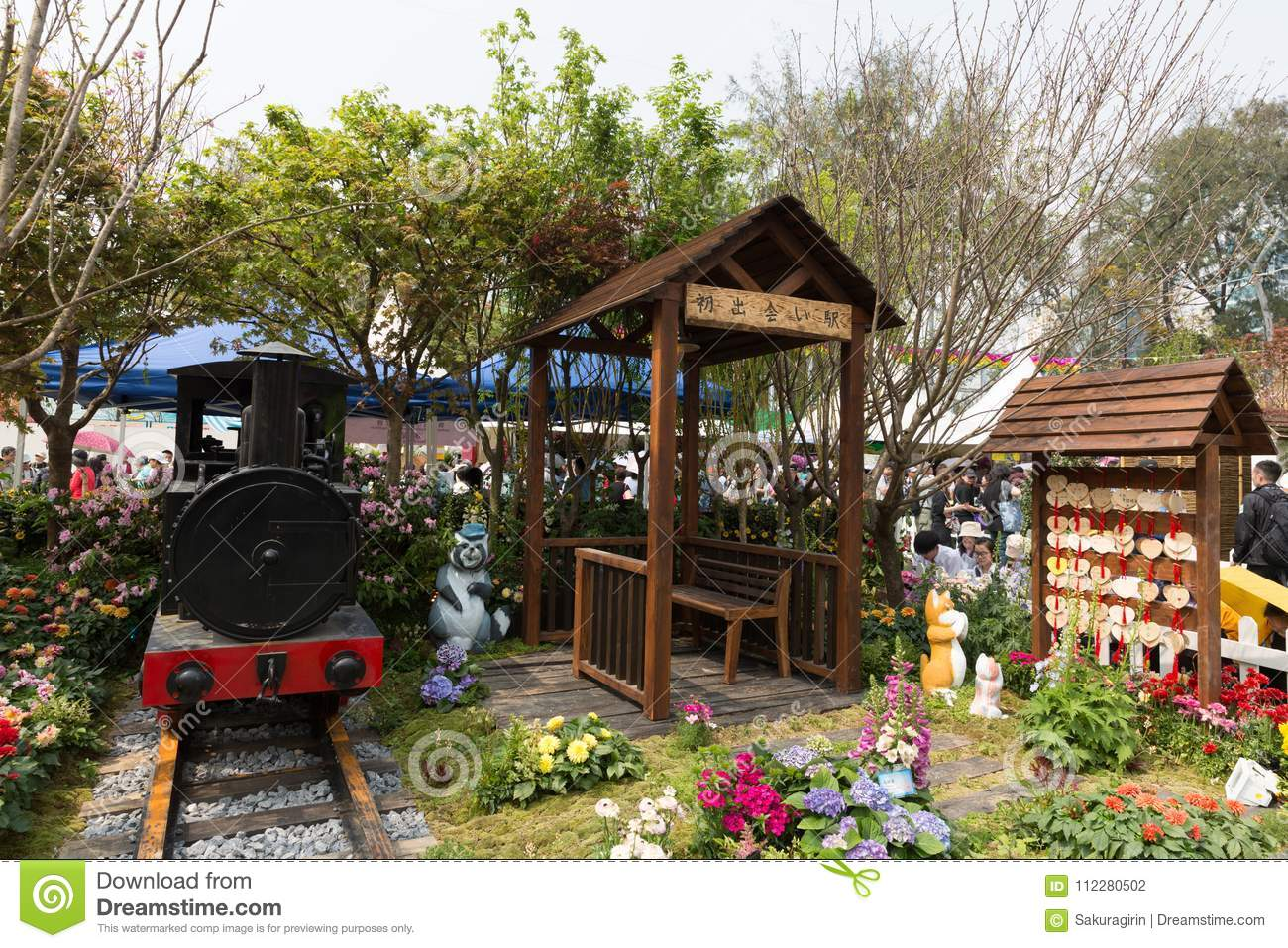 Hong Kong Flower Show 2018 editorial photography. Image of general - 112280502