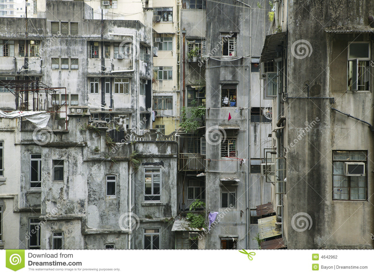 Hong kong old building stock photo Image of accommodation  4642962