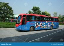Hongkong Disneyland Shuttle Bus. Editorial