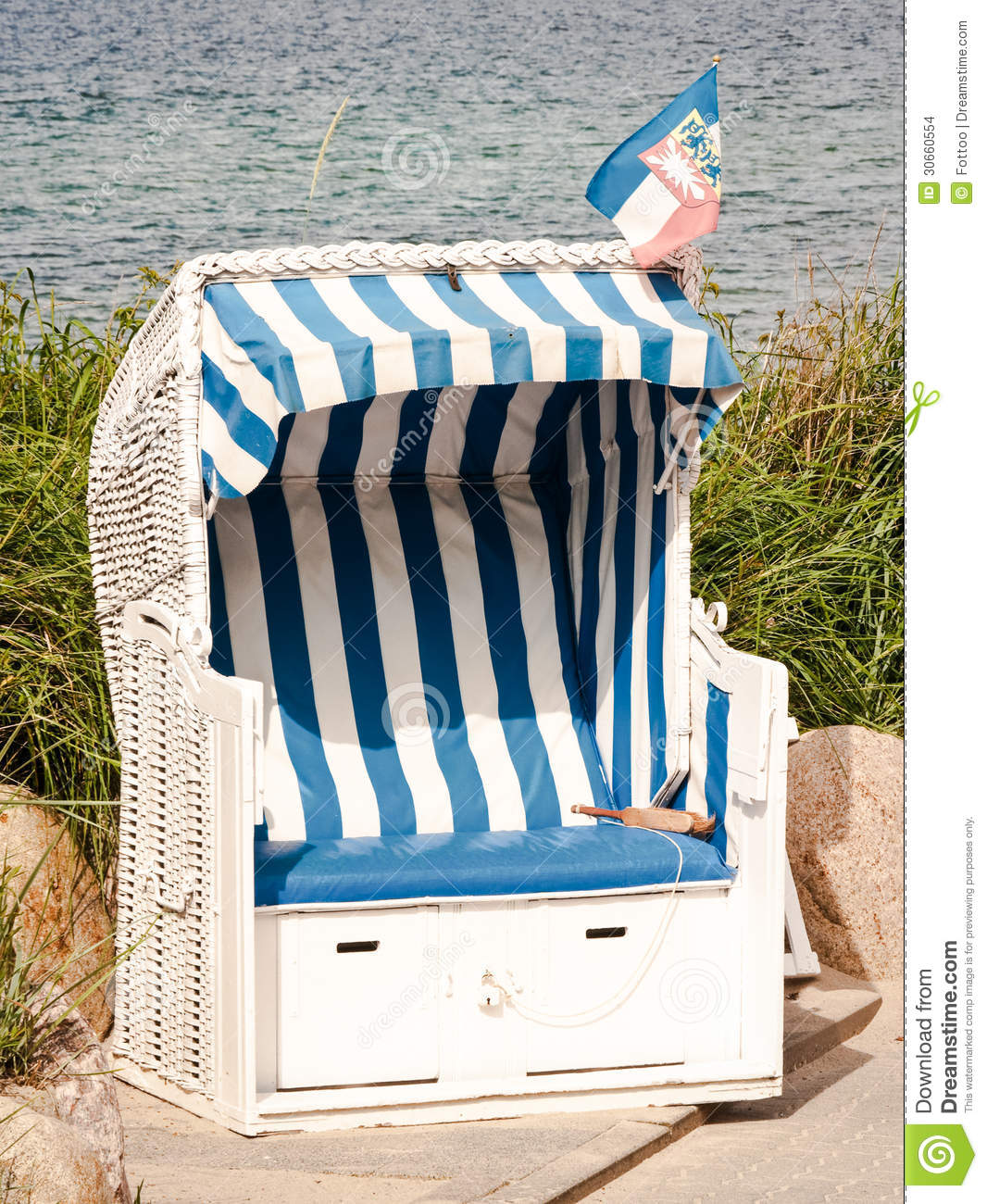 Hooded Chair Hooded Beach Chair Stock Images Image 30660554