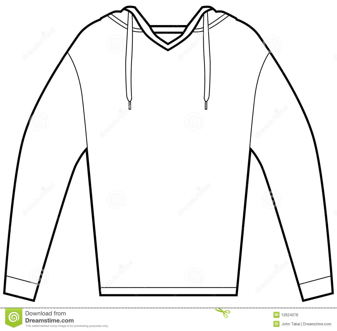 Hooded Pullover Shirt Stock Vector Illustration Of Icon