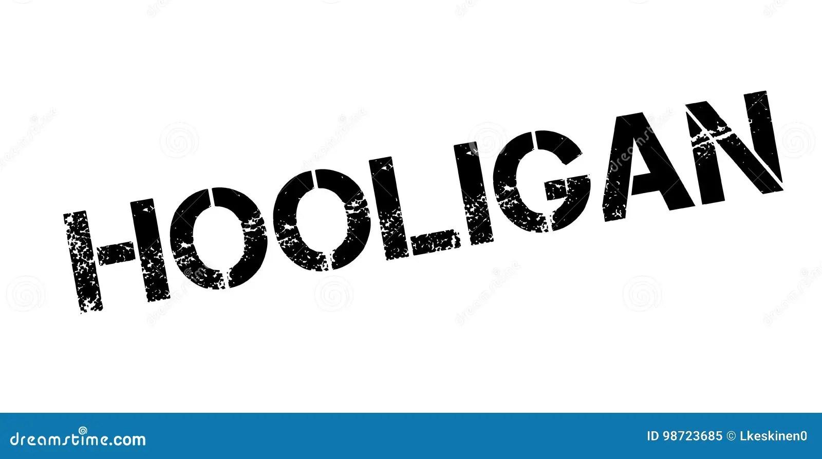 Hooligan rubber stamp stock vector. Illustration of gang
